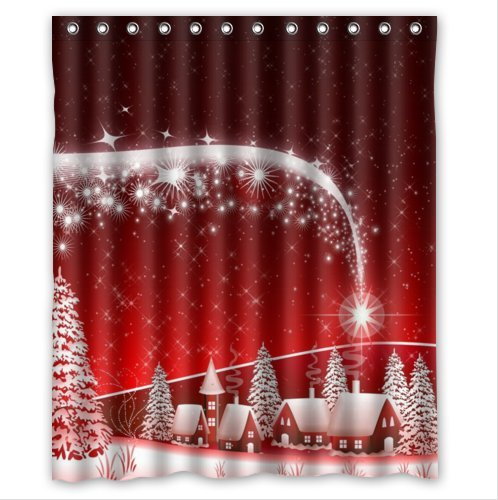 It Bright is Christmas Eve Mildew Shower Curtain