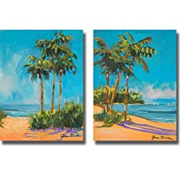 Solitude I & II by Jane Slivka 2-pc Premium Gallery Wrapped Canvas Giclee Art Set (Ready-to-Hang)