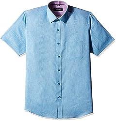 Greenfibre Men's Formal Shirt (97IT_44_Teal Blue)