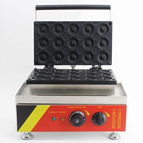 Open Kitchen NP-6 Commerical/Home Use 15pcs 110v 220v Electric Commercial 5cm Donut Doughnut Machine Maker Iron Baker Baking Equipment CE Certification