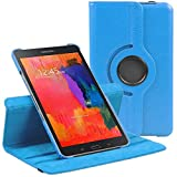 Stuff4 Case with 360 Degree Rotating Swivel Action with Screen Protector/Stylus Touch Pen for 8.4 inch Samsung Galaxy Tab Pro T520/T525 - Light Blue