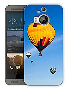 """Humor Gang Hot Air Balloon Story Printed Designer Mobile Back Cover For """"HTC ONE M9 PLUS"""" (3D, Matte, Premium Quality Snap On Case)"""