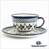 [Boleslawiec/ボレスワヴィエツ陶器]カップ&ソーサー-du60(ポーリッシュポタリー)