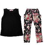 Jastore® Girls Baby Sets 3PCS Sleeveless Shirt/Tops + Floral Pants + Headband Vogue Clothes (12-18 Months)