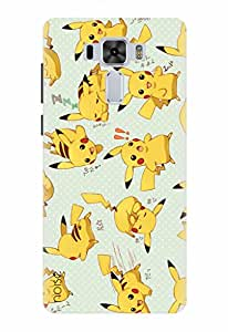 Noise Designer Printed Case / Cover for Asus ZenFone 3 Laser ZC551KL with 5.5 inch screen size / Animated Cartoons / Speely Pikachu Design