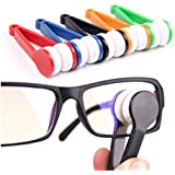 SODIAL(R) 5 Pieces Mini Sun Glasses Eyeglass Microfiber Spectacles Cleaner Soft Brush Cleaning Tool