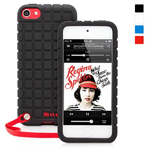 Snugg iPod Touch 6G/5G Rubber Case & Lifetime Guarantee (Black Silicone) for iPod Touch (5th/6th Generation) (Ebay Ipod 5 compare prices)