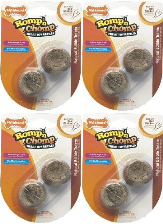 Nylabone Romp 'N Chomp Treat Refills - Small 8Pk (4X2Pk)