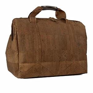 Corkor - Travel Suitcase, Weekender Bag made from Cork, 50 x 27,9 x 33 cm, Dark Brown