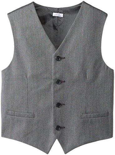 Calvin Klein Big Boys' Pin Dot Vest, Light Grey, Large