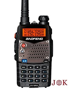 Baofeng UV 5RA 136-174/400-480 MHz Dual-Band DTMF CTCSS DCS FM 5W Amateur Two Way Radio (Black)