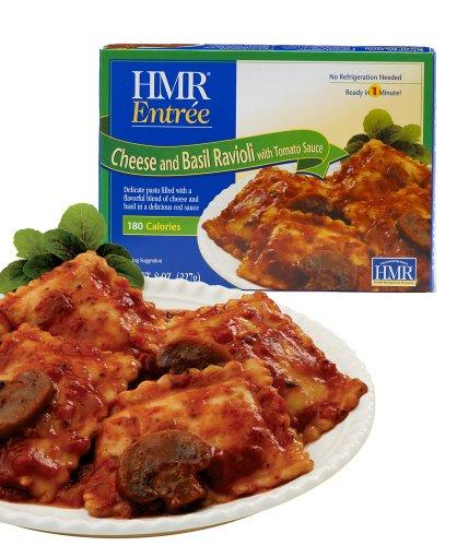 Hmr Cheese And Basil Ravioli With Tomato Sauce Entrée