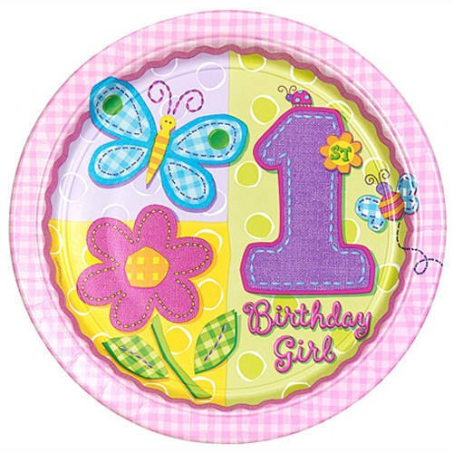 "Amscan Hugs & Stitches Girl 10 1/2"" Plates - 8 ct"
