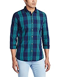 Ruggers Men's Casual Shirt (8907242822075_267797565_Large_Green)