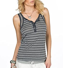 Piper Striped Henley Tank Top