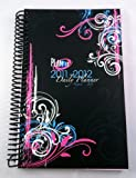 2011-2012 Daily Fashion Day Planner Organizer Agenda (August 2011 Through July 2012)- Black