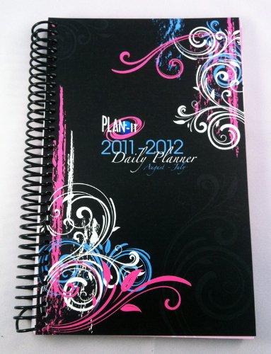 2011-2012 Daily Fashion Day Planner Organizer Agenda (August 2011 Through July 2012)- Black