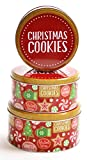 Christmas Nested Cookie Tins, Round Set of 3 (Christmas Cookies)