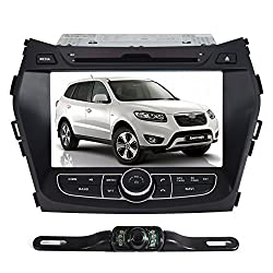 See Pumpkin 8 inch For Hyundai IX45/Santa Fe 2013 In Dash HD Touch Screen Car DVD Player SD/USB/GPS/BT/FM/AM Radio Stereo Navigation System with free reverse backup rear view reversing camera as gift Details