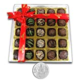 Chocholik Belgium Chocolate Gifts - Stunning Collection Of Truffles With 5gm Pure Silver Coin - Diwali Gifts