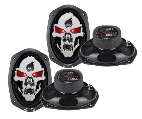 """4) New Boss Skull Phantom Sk694 6X9"""" 1400W 4 Way Car Full Range Speakers 6""""X9"""""""
