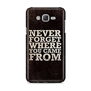 Motivatebox - Samsung Galaxy J7 2016 edition Back Cover - Never Forget Where Polycarbonate 3D Hard case protective back cover. Premium Quality designer Printed 3D Matte finish hard case back cover.