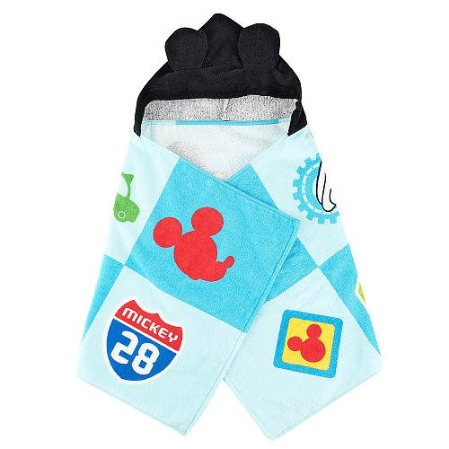 Disney Mickey Mouse Hooded Towel Blue