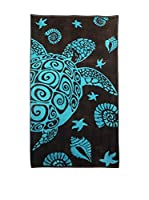 Natural History Gifts Toalla Playa Lux Mod 31 (Negro / Azul)