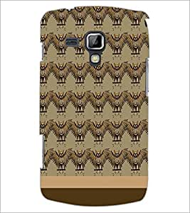 PrintDhaba Owl pattern D-1860 Back Case Cover for SAMSUNG GALAXY S DUOS 2 S7582 (Multi-Coloured)