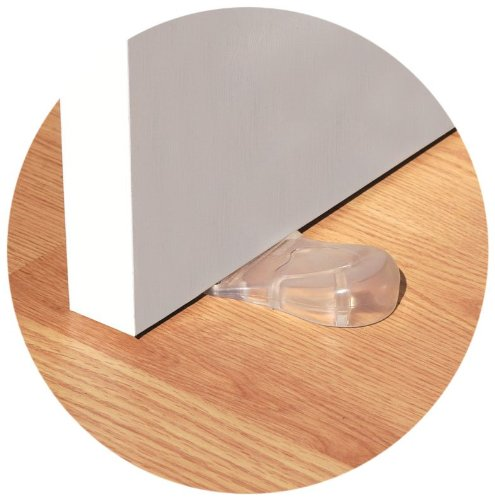 Kid Kusion Clearly Safe Door Stop - Clear - Set Of 6 front-207859