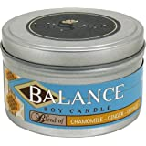 Blissoma Balance Aromatherapy Artisan Soy Candle 8 Oz With Natural Essential Oils No Synthetic Scent