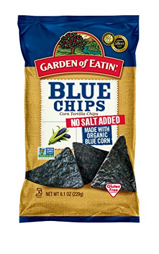Garden of Eatin' Blue Corn, No Salt Added, Tortilla Chips, 8.1 Ounce (Pack of 12) (Blue Corn Tortillas Non Gmo compare prices)