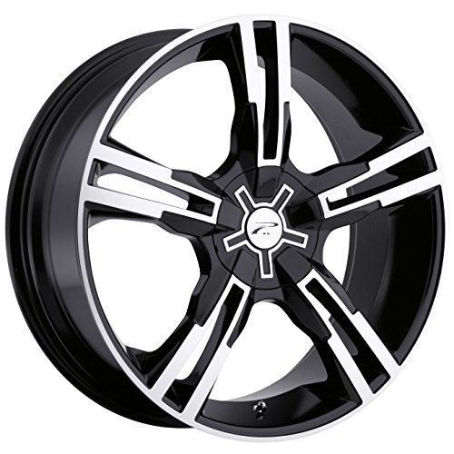 Platinum Saber 16 Black Wheel / Rim 5x100 & 5x4.5 with a 42mm Offset and a 73 Hub Bore. Partnumber 292-6718B (2009 Mustang Rims compare prices)