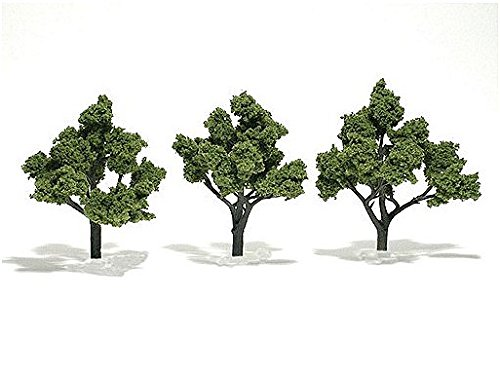 "Light Green Ready Made Trees 4"" - 5"" Woodland Scenics"