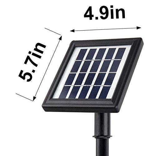 Microsolar 12 Led Lithium Battery Separate Solar