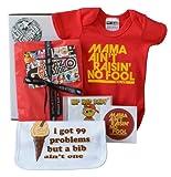 De beb� o caja de regalo babero de HipHop Grace Taylor problemas de 99 beb�s de CD y Mama iPad todabia No pasa No rojo y Babygrow 6-12 meses
