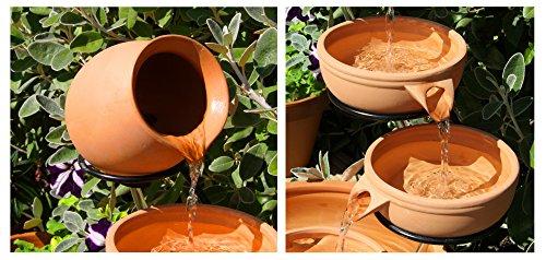 Cascade d'eau en céramique à l'énergie solaire (terre cuite)