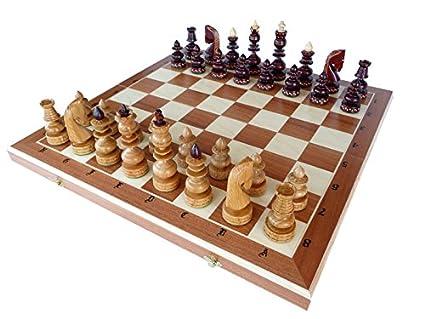 Série Limitée solide en bois de cerisier jeu d'échecs, artisanal