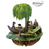 Santoro 3D Pirouette Greeting Card - Wind in the Willows