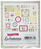 Echo Park Paper PC103024 Petticoats & Pinstripes Ephemera Cardstock Die-Cuts, Girl, Multicolor