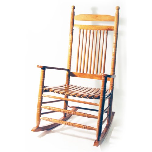 ORLEANS - Solid Wood Traditional Rocking Chair - Oak