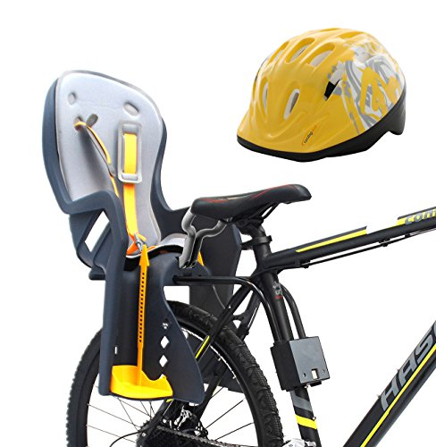 Discover Bargain Bike Baby Rear Seat with Handrail and Helmet