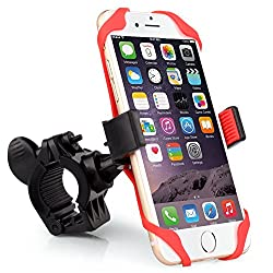 Bike Mount, Universal 360 Degree Rotation Bike Mount Handlebar Holder for iPhone 6/5s/5c/4s, Galaxy S6/S5/S4, HTC One & Other Smartphones & GPS Holds Devices Up To 3.5in Wide