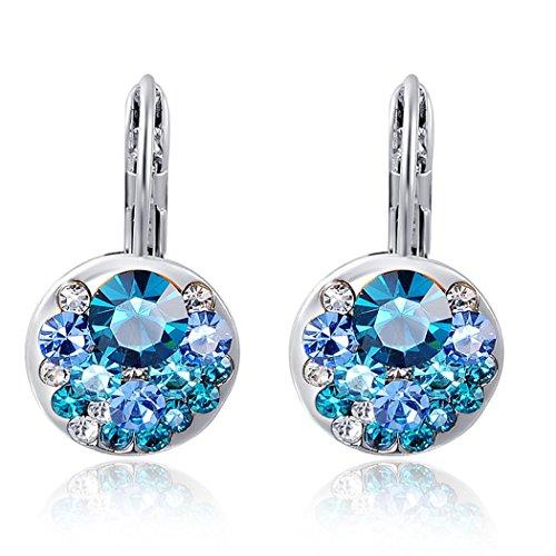 Yc elegante, in argento Sterling e Zirconia cubica, con orecchini a cerchio semplici, donna