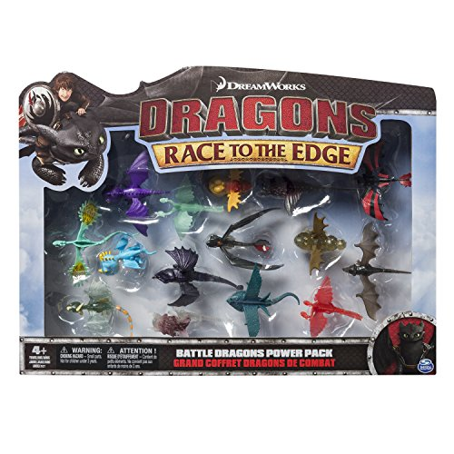 Dragons 6027505 - Battle Dragons Collection, Multicolore