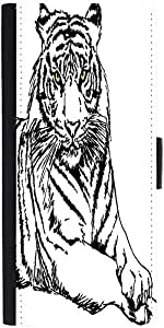 Snoogg Sketch Of White Tiger Vector Illustration Graphic Snap On Hard Back Le...