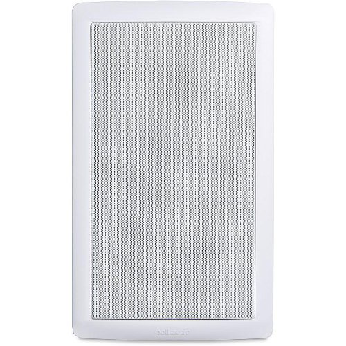 """Polk In-Wall Speaker With 6-1/2"""" Dynamic Balance Woofer And 3/4"""" Aimable Silk Dome Tweeter, Features Patented Dynamic Balance Technology With Paintable White Matte Grille & Durable Moisture Resistant Construction, Easy One-Cut, Drop-In Installation, White"""
