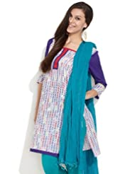 Span Women's Cotton Multi Colour Stripes Of Link Chains Printed Kurta