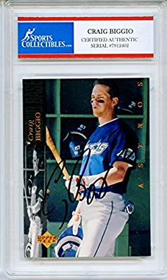 Criag Biggio Autographed Houston Astros Encapsulated Trading Card - Certified Authentic