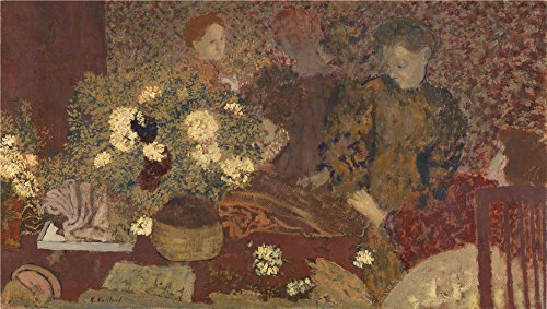 Oil Painting 'Edouard Vuillard - The Earthenware Pot,1895', 18 x 32 inch / 46 x 81 cm , on High Definition HD canvas prints is for Gifts And Game Room, Hallway And Home Office Decoration (Super Bowl 46 Blu Ray compare prices)